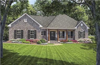 3-Bedroom, 1751 Sq Ft Ranch House Plan - 141-1166 - Front Exterior