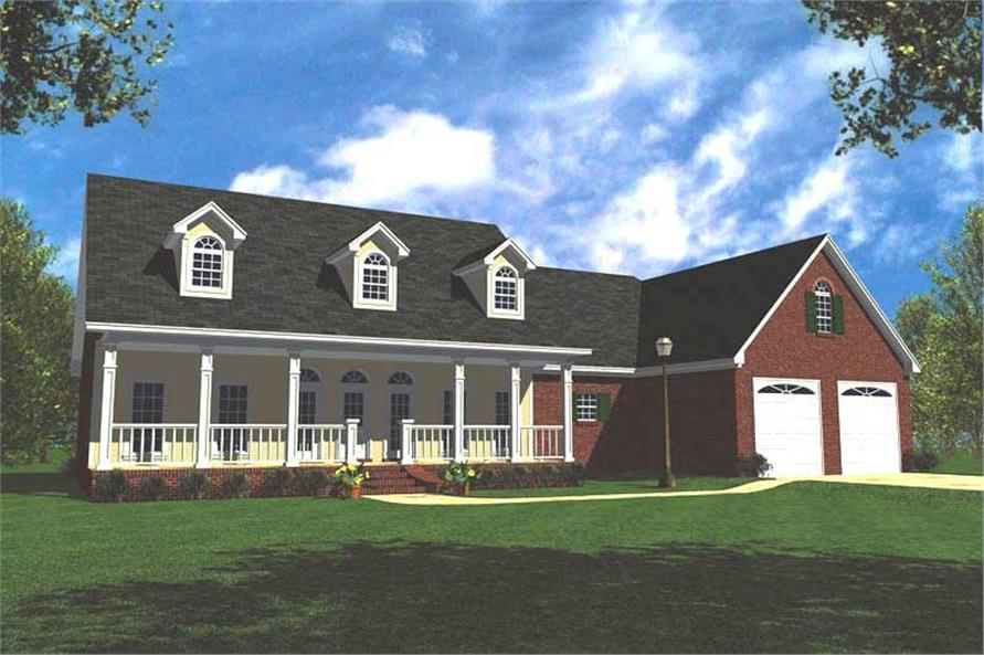 3-Bedroom, 1799 Sq Ft Country House Plan - 141-1172 - Front Exterior