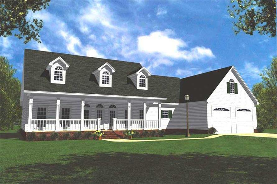 3-Bedroom, 1799 Sq Ft Ranch House Plan - 141-1173 - Front Exterior