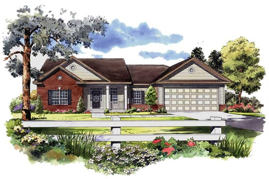 3-Bedroom, 1700 Sq Ft Country House Plan - 141-1174 - Front Exterior