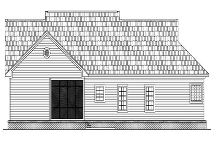 Home Plan Rear Elevation of this 3-Bedroom,1818 Sq Ft Plan -141-1177