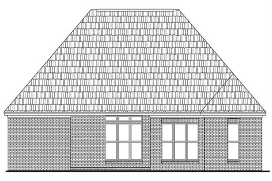 Home Plan Rear Elevation of this 3-Bedroom,1900 Sq Ft Plan -141-1178