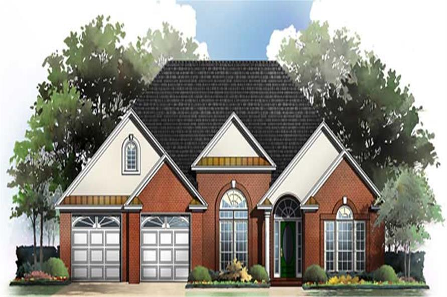 3-Bedroom, 1900 Sq Ft Country House Plan - 141-1178 - Front Exterior