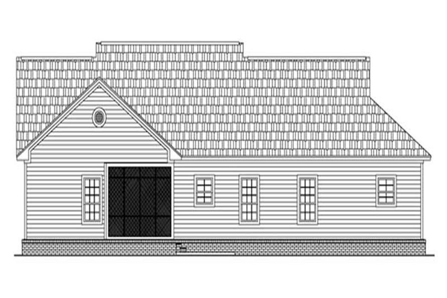 Home Plan Rear Elevation of this 3-Bedroom,2003 Sq Ft Plan -141-1179