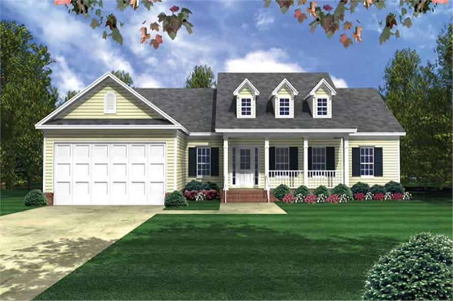 3-Bedroom, 2003 Sq Ft Country House Plan - 141-1179 - Front Exterior