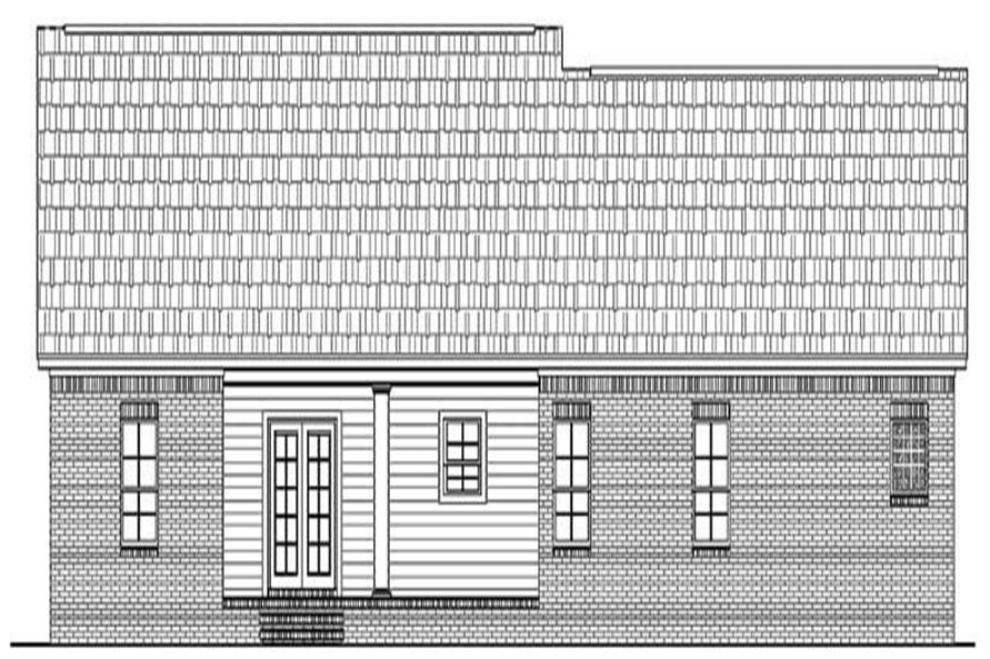 Home Plan Rear Elevation of this 3-Bedroom,1751 Sq Ft Plan -141-1180