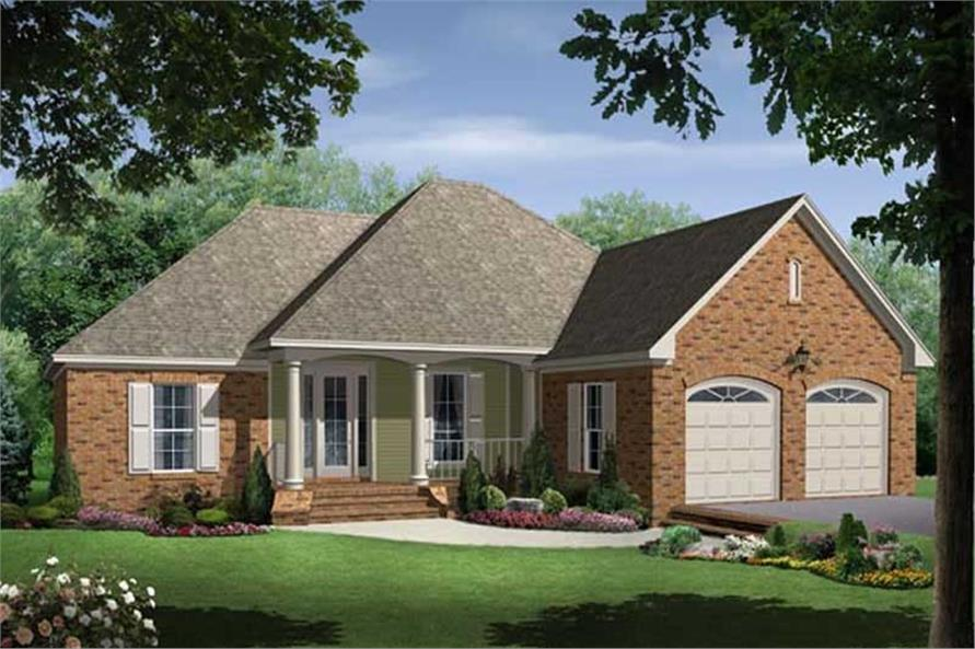 3-Bedroom, 1750 Sq Ft Acadian Home Plan - 141-1181 - Main Exterior