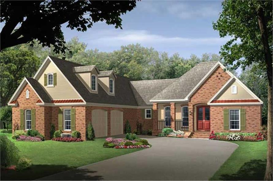 European Country House Plan 141 1182 4 Bedrm 2400 Sq Ft