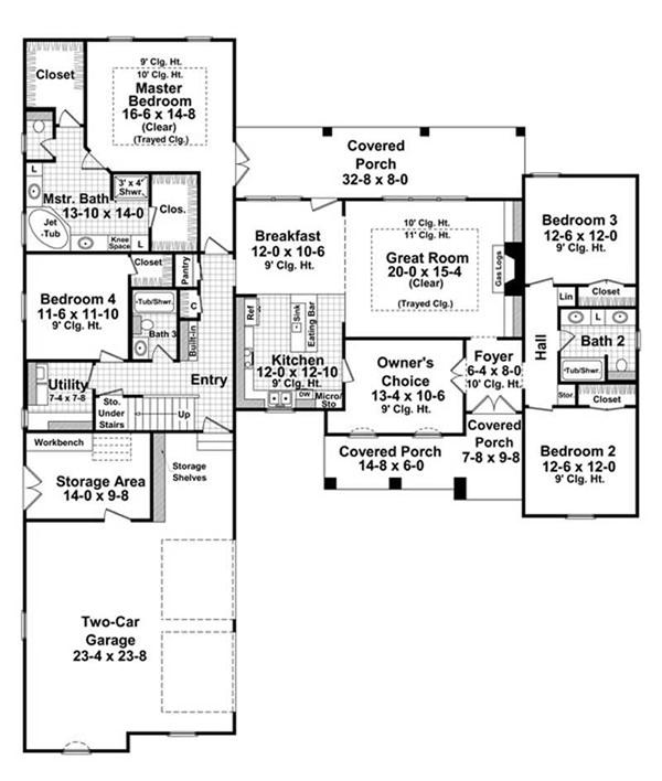 House Plan HPG-2400-1 Main Floor Plan