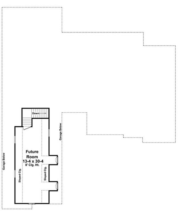 House Plan HPG-2400-1 Bonus Room Floor Plan