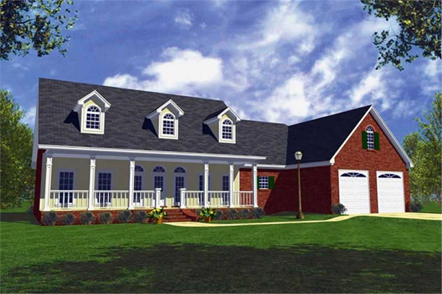 3-Bedroom, 1800 Sq Ft Country House Plan - 141-1183 - Front Exterior
