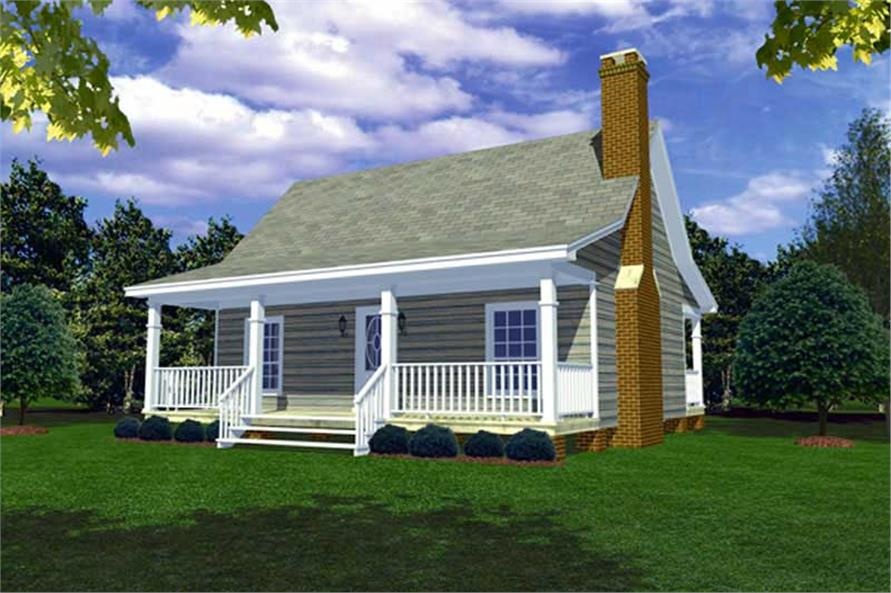 Small Ranch Home Floor Plan   Two Bedrooms     middot  Main image for small ranch   cottage house plan         ThePlanCollection