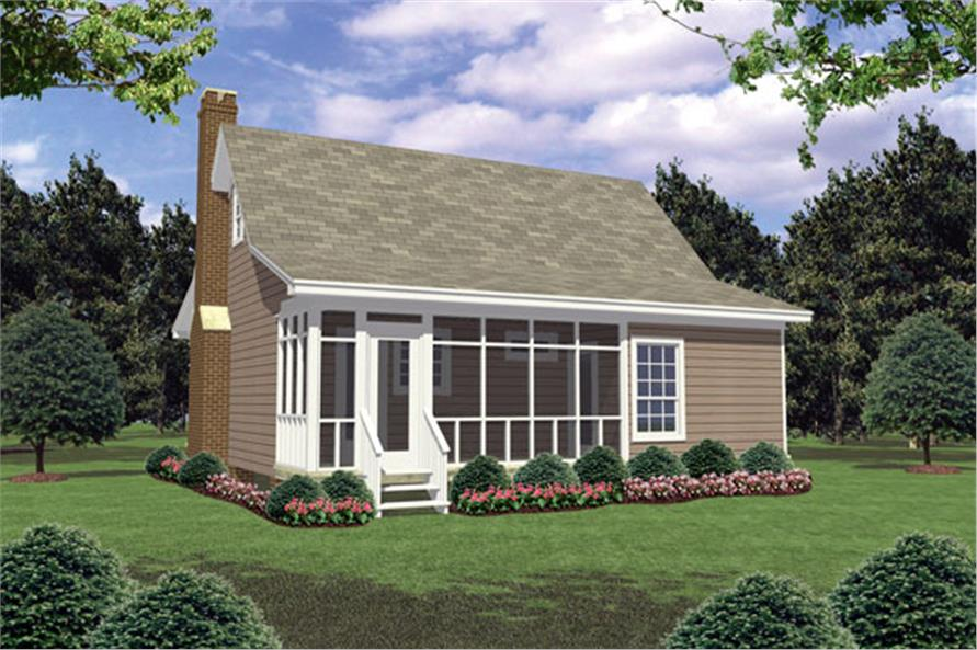 141-1184: Home Plan Rear Elevation