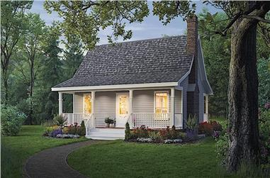 2-Bedroom, 800 Sq Ft Country Home - Plan #141-1184 - Main Exterior