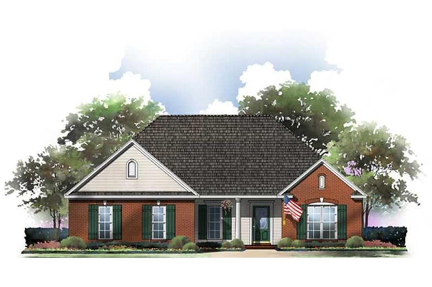 Home Plan Rendering of this 3-Bedroom,1604 Sq Ft Plan -141-1185