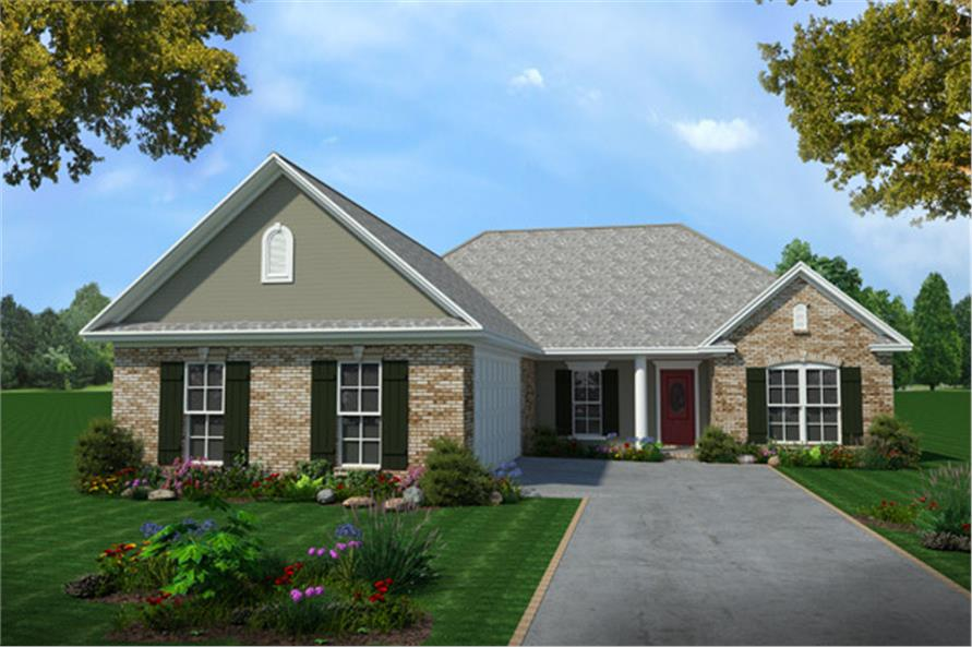 3-Bedroom, 1604 Sq Ft European Home Plan - 141-1185 - Main Exterior