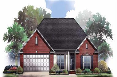 3-Bedroom, 1605 Sq Ft Ranch Home Plan - 141-1186 - Main Exterior