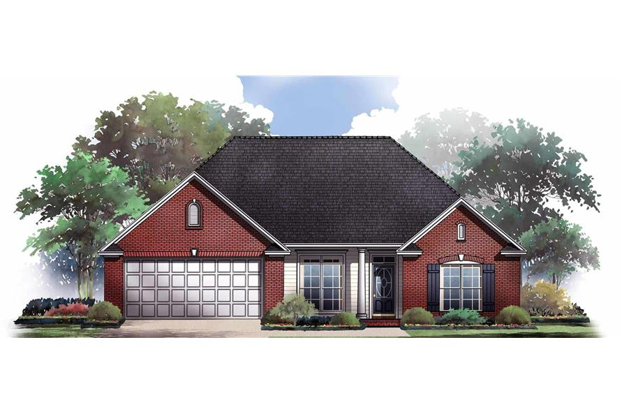 3-Bedroom, 1605 Sq Ft Ranch Home Plan - 141-1186 - Main Exterior