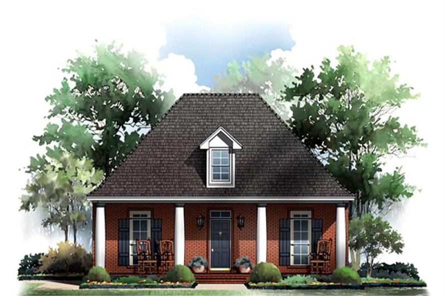 3-Bedroom, 1650 Sq Ft Bungalow Home Plan - 141-1188 - Main Exterior