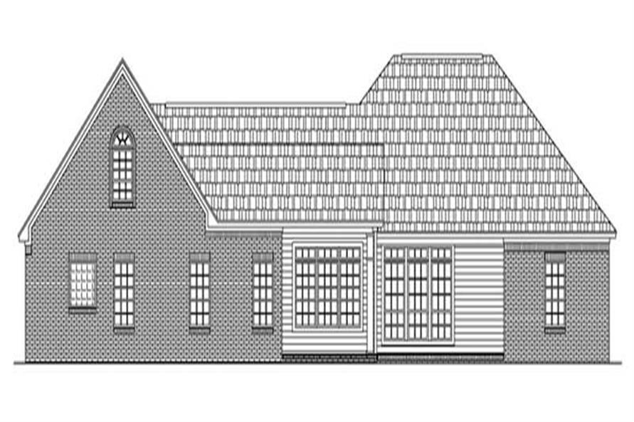 Home Plan Rear Elevation of this 4-Bedroom,2251 Sq Ft Plan -141-1194
