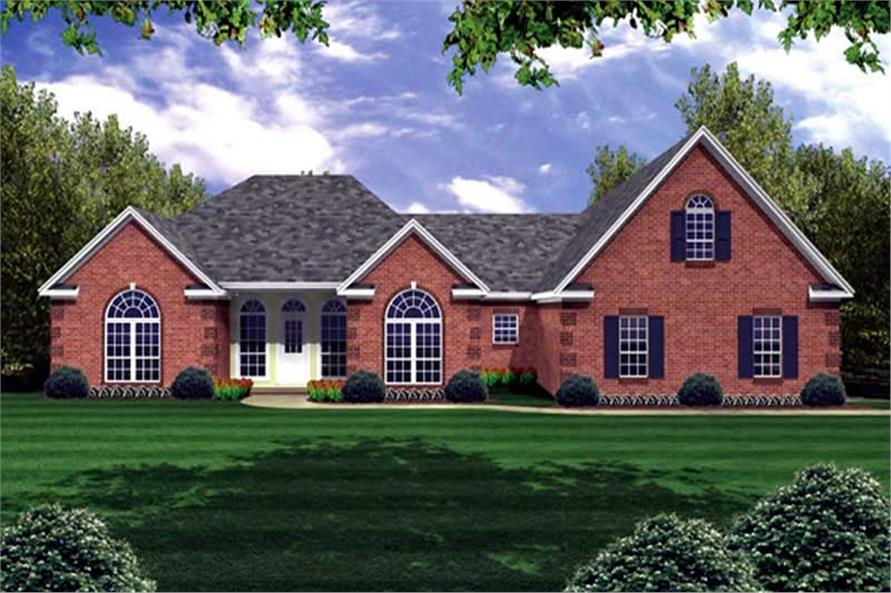 4-Bedroom, 2251 Sq Ft Country Home Plan - 141-1194 - Main Exterior