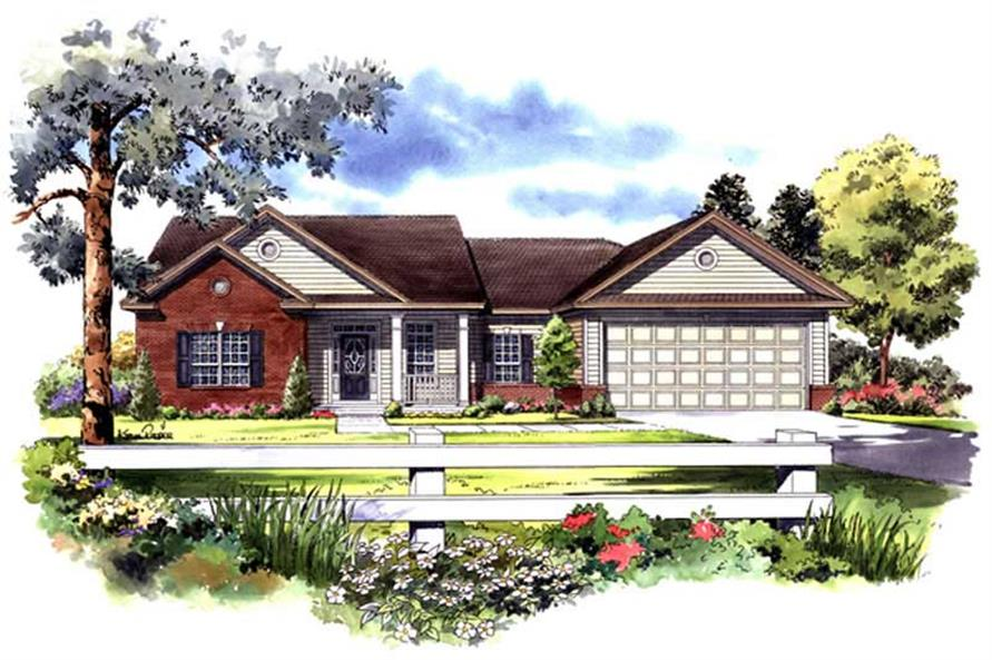 3-Bedroom, 1502 Sq Ft Country House Plan - 141-1195 - Front Exterior