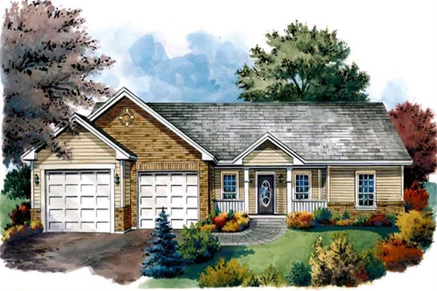 3-Bedroom, 1402 Sq Ft Country House Plan - 141-1199 - Front Exterior