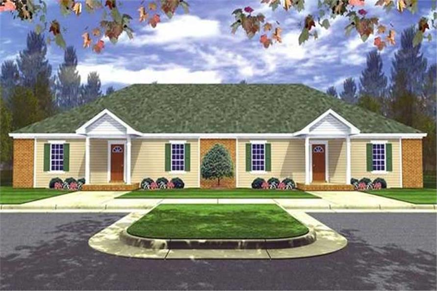 1-Bedroom, 2728 Sq Ft European Home Plan - 141-1201 - Main Exterior