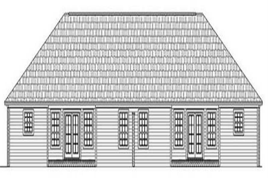 Home Plan Rear Elevation of this 1-Bedroom,2728 Sq Ft Plan -141-1201