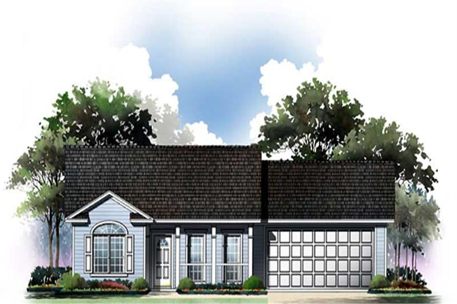 2-Bedroom, 1002 Sq Ft Craftsman House Plan - 141-1202 - Front Exterior