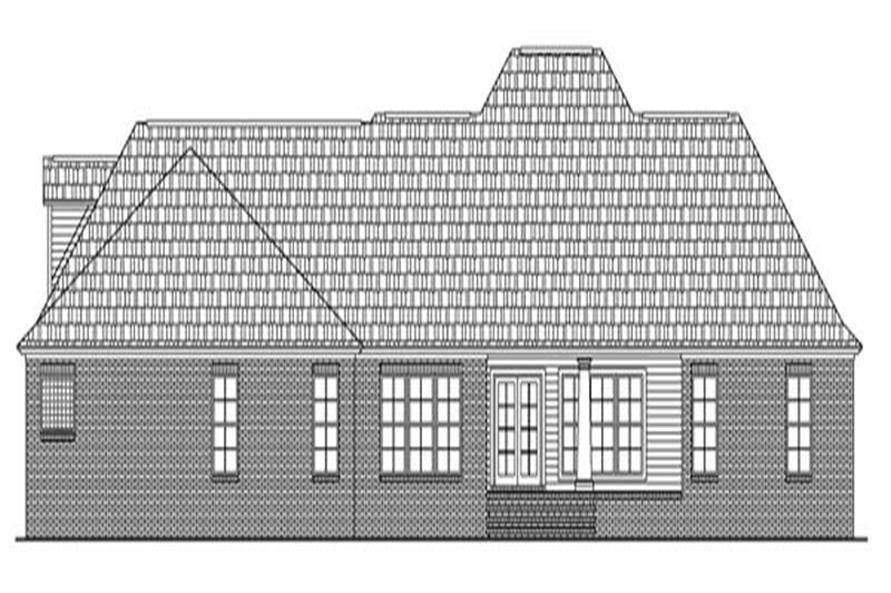 Home Plan Rear Elevation of this 4-Bedroom,2601 Sq Ft Plan -141-1204