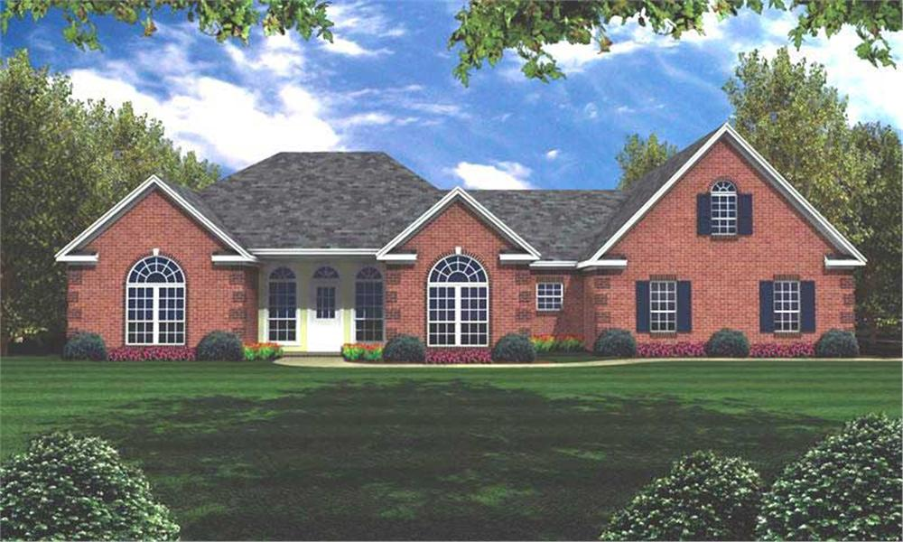Front elevation of Traditional home (ThePlanCollection: House Plan #141-1205)