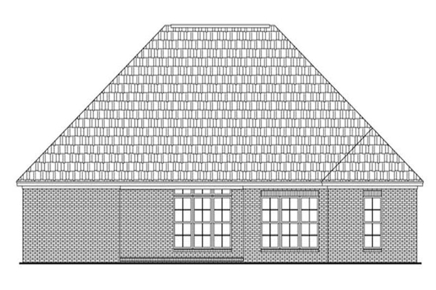 Home Plan Rear Elevation of this 3-Bedroom,2006 Sq Ft Plan -141-1207