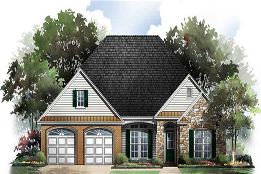 3-Bedroom, 2006 Sq Ft Country House Plan - 141-1207 - Front Exterior