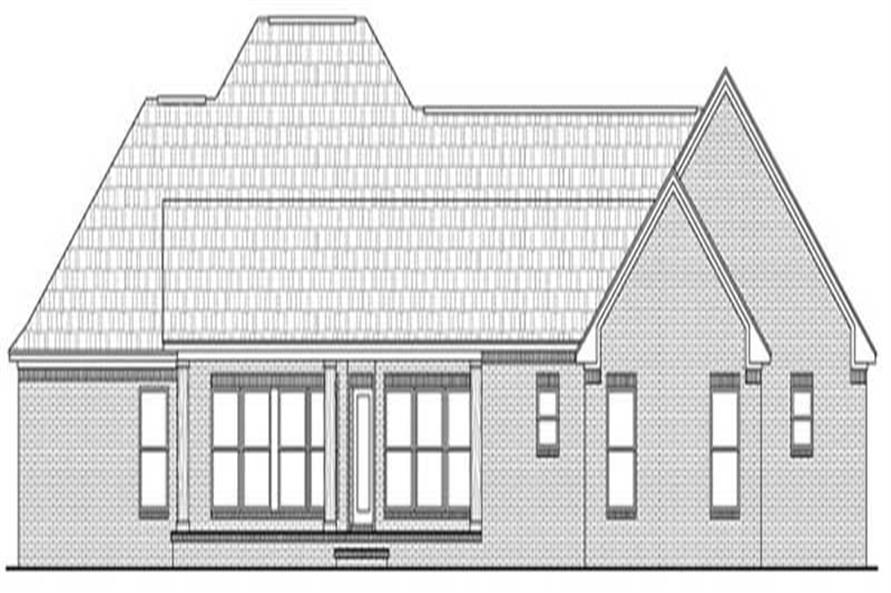 Home Plan Rear Elevation of this 3-Bedroom,2401 Sq Ft Plan -141-1210