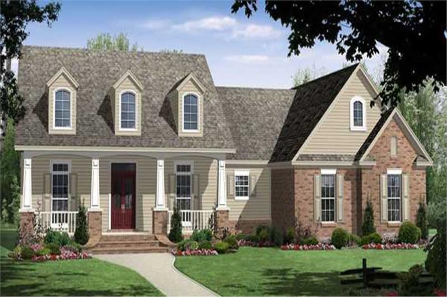 4-Bedroom, 2500 Sq Ft Country Home Plan - 141-1211 - Main Exterior