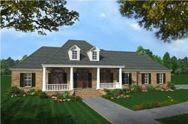 4-Bedroom, 2501 Sq Ft Country Home Plan - 141-1212 - Main Exterior