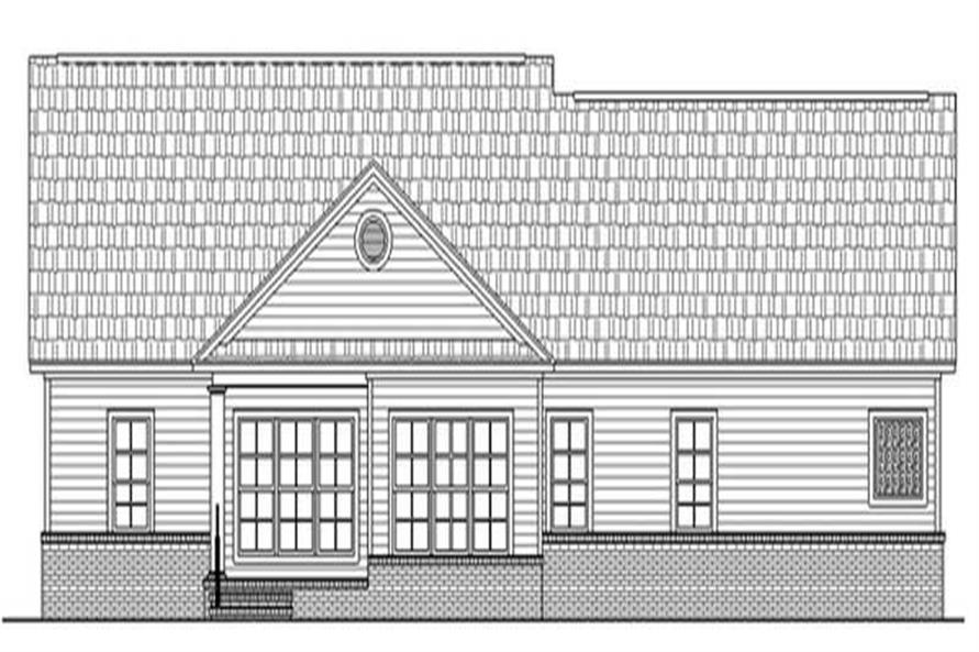 Home Plan Rear Elevation of this 3-Bedroom,2019 Sq Ft Plan -141-1215