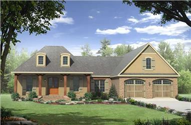 3-Bedroom, 2007 Sq Ft Acadian Home Plan - 141-1216 - Main Exterior