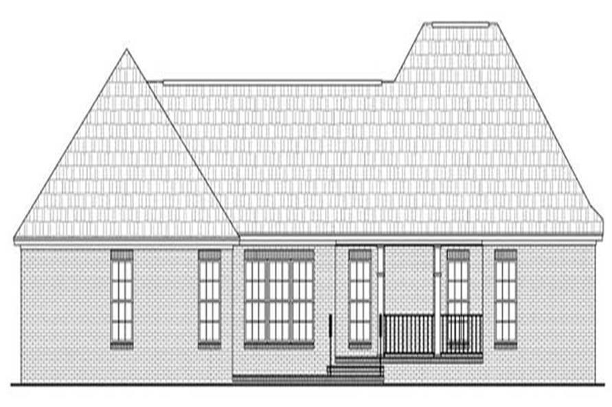 Home Plan Rear Elevation of this 3-Bedroom,2007 Sq Ft Plan -141-1216