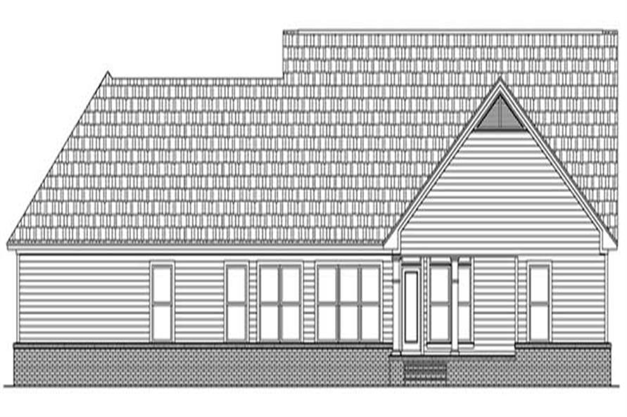Home Plan Rear Elevation of this 3-Bedroom,2008 Sq Ft Plan -141-1217