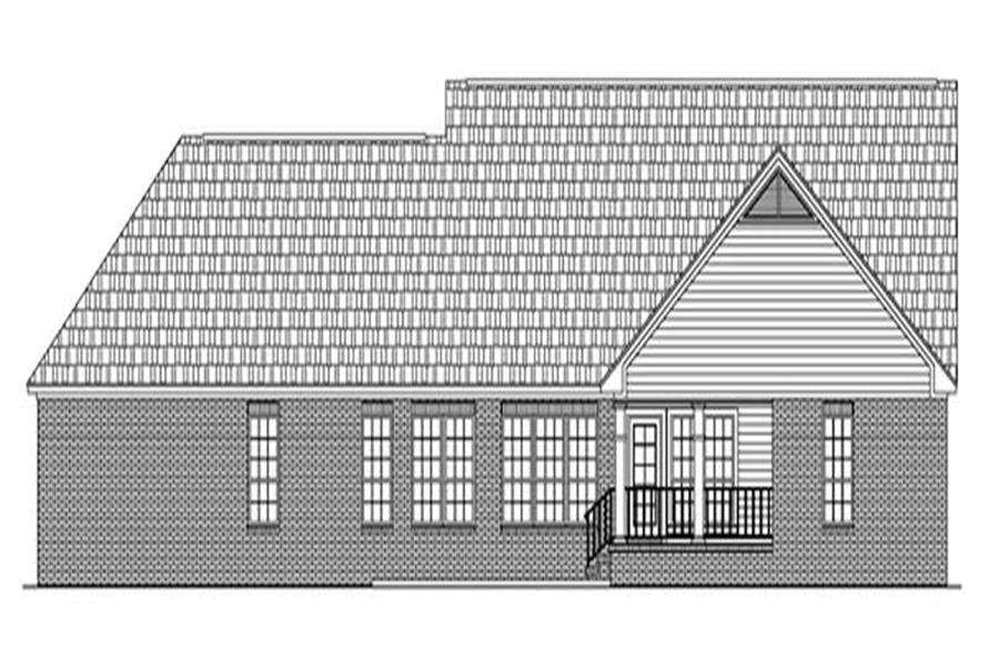 Home Plan Rear Elevation of this 3-Bedroom,2200 Sq Ft Plan -141-1218