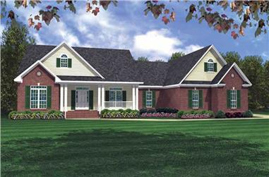 3-Bedroom, 2200 Sq Ft Country Home Plan - 141-1218 - Main Exterior