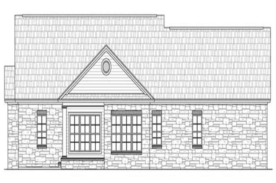 Home Plan Rear Elevation of this 3-Bedroom,2103 Sq Ft Plan -141-1219