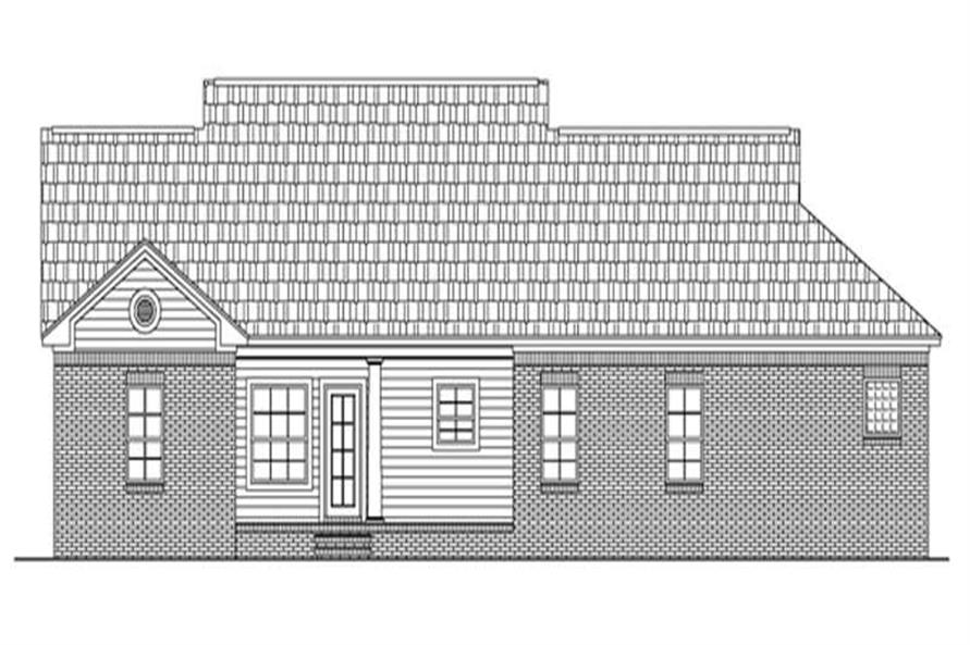 Home Plan Rear Elevation of this 3-Bedroom,1500 Sq Ft Plan -141-1220