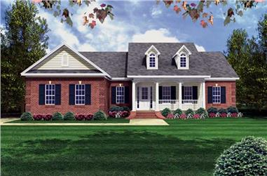 3-Bedroom, 1500 Sq Ft Country Home Plan - 141-1220 - Main Exterior
