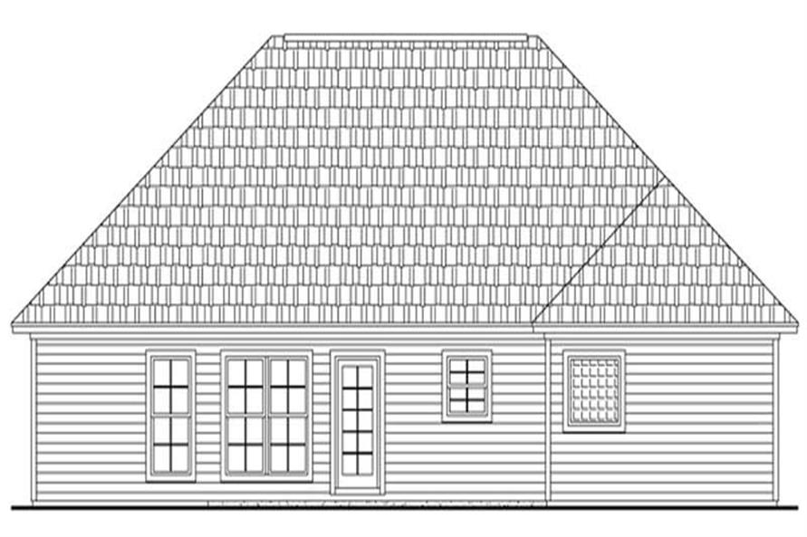 Home Plan Rear Elevation of this 3-Bedroom,1625 Sq Ft Plan -141-1221