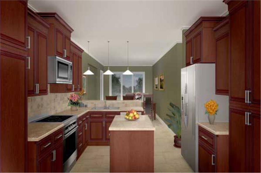 Home Plan 3D Image of this 3-Bedroom,2004 Sq Ft Plan -141-1222