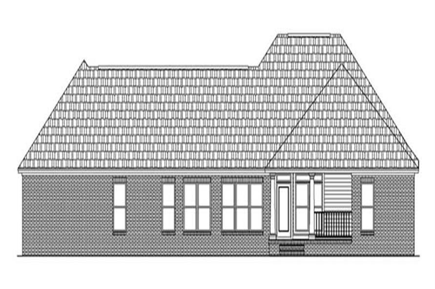 Home Plan Rear Elevation of this 3-Bedroom,2004 Sq Ft Plan -141-1222