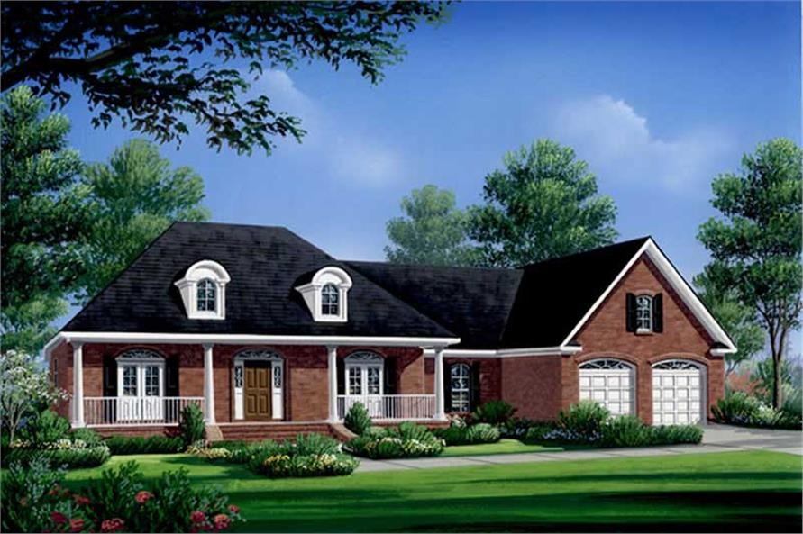 3-Bedroom, 2004 Sq Ft Country Home Plan - 141-1222 - Main Exterior
